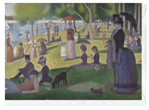 A Sunday on La Grande Jatte George Seurat Greeting Card