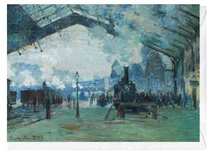 Arrival of the Normandy Train Claude Monet Greeting Card