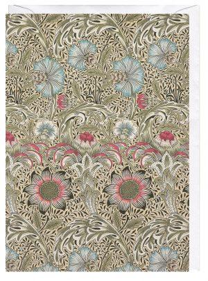 Corncockle Designed William Morris greeting card