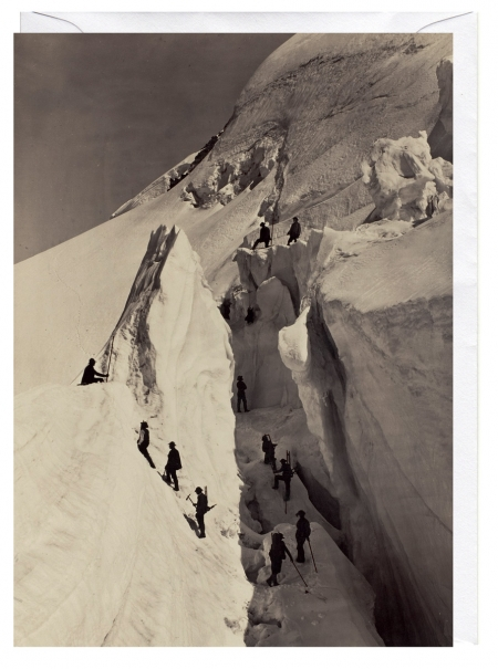 The Ascent of Mont Blanc 1861 Blank Greeting Card