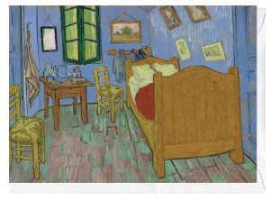 The Bedroom Vincent Van Gogh blank Fine Art Greeting Card