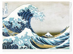 The Great Wave of Kanagawa Katsushika Hokusai Japanese Woodblock Art Blank Greeting Card
