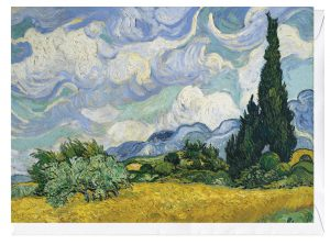 Wheat Field with Cypresses Vincent Van Gogh Greeting Card